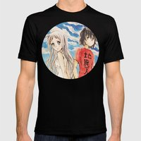AnoHana Mens Fitted Tee Black SMALL