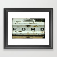 Old Ford Truck - Nice As… Framed Art Print