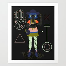 Witch Series: Palm Reader Art Print