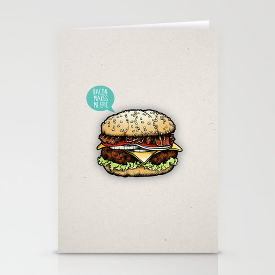 Epic Burger Stationery Card