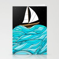 Night Sea Stationery Cards