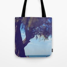Fisherman in the distance, Mauritius Tote Bag