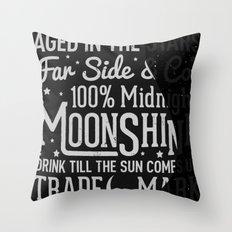 Midnight Moonshine Throw Pillow