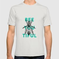 Bee-you-tiful Mens Fitted Tee Silver SMALL