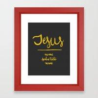 Jesus - nome sobre todo nome Framed Art Print