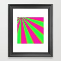Pink and Green fractal Framed Art Print