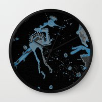 Blue Bird Lizard Wall Clock