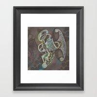 Night Moth Framed Art Print