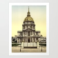 Les Invalides, Paris, Fr… Art Print