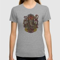 Lord Ganesha Womens Fitted Tee Athletic Grey SMALL