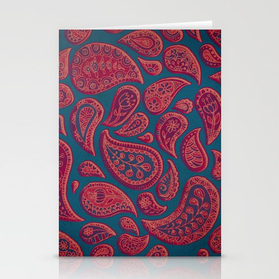 Paisley Doodles Stationery Card