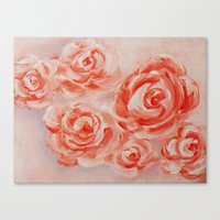 Floating Roses Canvas Print