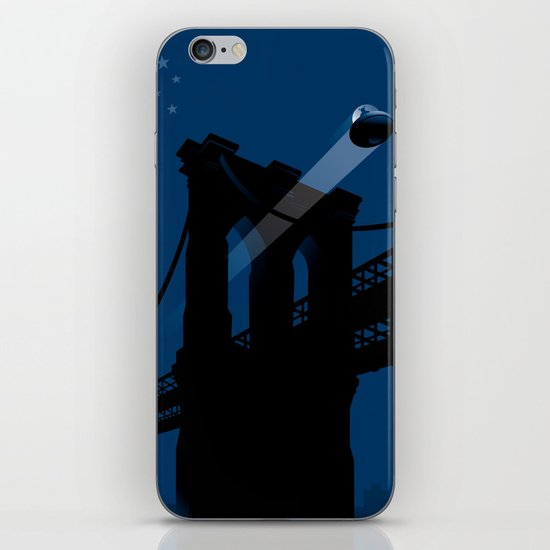 A UFO flies in Brooklyn iPhone & iPod Skin