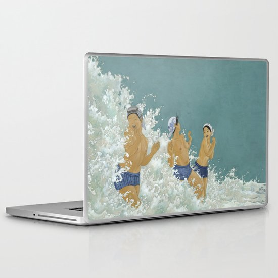 Three Ama Enveloped In A Crashing Wave Laptop & iPad Skin