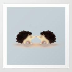 Hedge Hugs Art Print