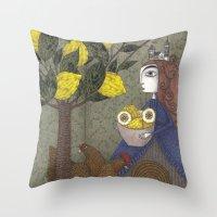 The Lemon Picker Throw Pillow