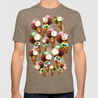 Ice Cream Cones Cartoon … Mens Fitted Tee Tri-Coffee SMALL