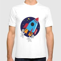 Space Cruiser Mens Fitted Tee White SMALL