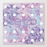 Benzo Pills Canvas Print