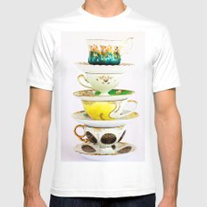 Tip Top TeaCup Mens Fitted Tee SMALL White
