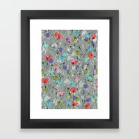 Crawling leaves Framed Art Print