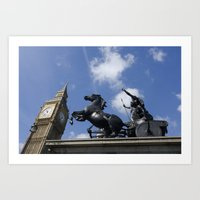 Boadecia and Big Ben Art Print