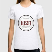 Blessed Womens Fitted Tee Ash Grey SMALL