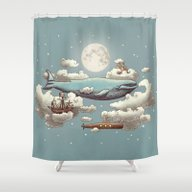 Shower Curtain featuring Ocean Meets Sky by Terry Fan