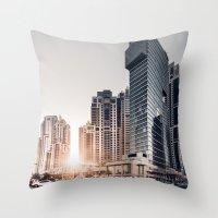 Dubai Sky Throw Pillow