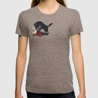 snowtime Womens Fitted Tee Tri-Coffee SMALL