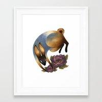 The Garden Thief Framed Art Print