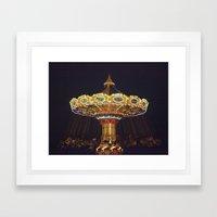 Night Spin Framed Art Print