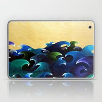 Abstract ocean painting waves nautical decor Stormy storm Laptop & iPad Skin