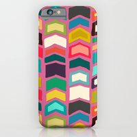 iPhone & iPod Case featuring arrow pop pink by Sharon Turner