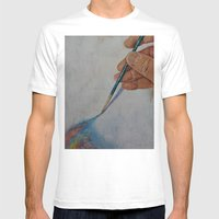 Painting Mens Fitted Tee White SMALL