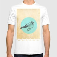 Spotted bird Mens Fitted Tee White SMALL