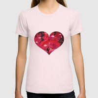 BIG HEART Womens Fitted Tee Light Pink SMALL