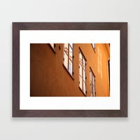 Stockholm Windows Framed Art Print