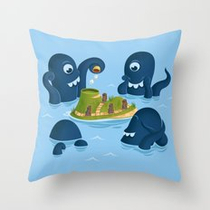 The mystery of Easter Island Throw Pillow