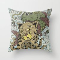 Mr Octopus & The One Tha… Throw Pillow