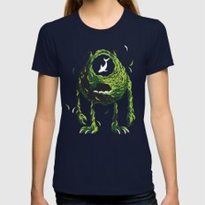 Wazowski of Fish Womens Fitted Tee Navy SMALL