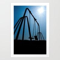 Abandoned Swing Set Art Print