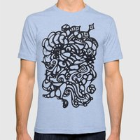 Collision Mens Fitted Tee Tri-Blue SMALL