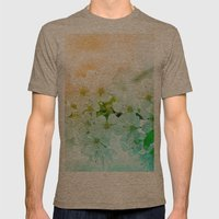 cherry blossom Mens Fitted Tee Tri-Coffee SMALL