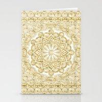 Orient Espresso Pattern Mandala Gold Stationery Cards