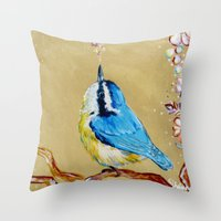 Spring Songbird  Throw Pillow