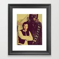 Chewbacca & Han Solo - A… Framed Art Print