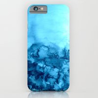 INTO ETERNITY, TURQUOISE Colorful Aqua Blue Watercolor Painting Abstract Art Floral Landscape Nature iPhone 6 Slim Case