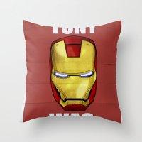 Tony Was Wrong (Iron Man Movie Version) Throw Pillow