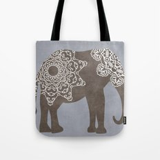 Brown Elephant Tote Bag